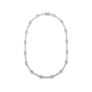 Collette Z Sterling Silver Cubic Zirconia Tiny Cubes Necklace