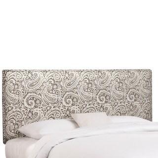 Skyline Furniture Nailhead Trim Arta Ash Grey Upholstered Headboard