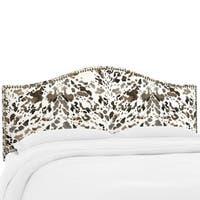 Custom Nailhead Trim Prints Upholstered Headboard- Skyline Furniture