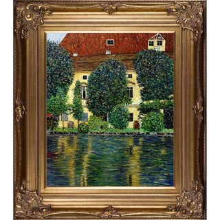 Gustav Klimt 'Schloss Kammer on Attersee II' Hand Painted Framed Oil Reproduction on Canvas