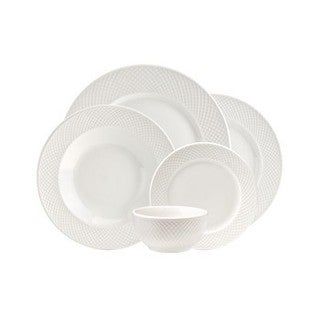 Lattucina 20-piece Porcelain Dinnerware Set (Service for 4)