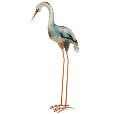 National Tree Company Metal 40-inch Blue Crane Garden Accent