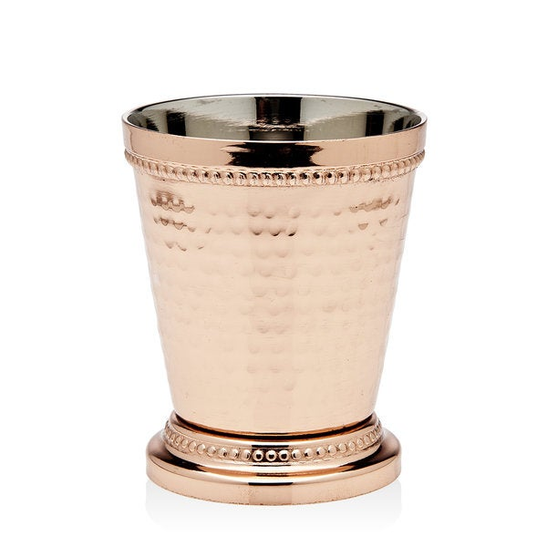 Godinger Gold-tone Copper Metal Beaded Mint Julep Cup