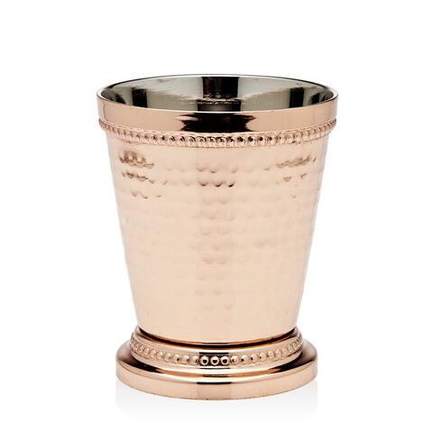 Godinger Gold-tone Copper Metal Beaded Mint Julep Cup