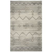 Rizzy Home Suffolk Grey Moroccan Hand-tufted 100% Wool Rug (3' x 5') - 3' x 5'