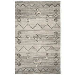 Rizzy Home Suffolk Grey Moroccan Hand-tufted 100% Wool Rug (3' x 5')