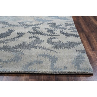 Rizzy Home Volare Grey Ikat Hand-tufted Wool Rug (3' x 5') - 3' x 5'
