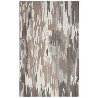 Rizzy Home Suffolk Brown Wool Abstract Rug - 3' x 5'