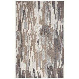Rizzy Home Suffolk Brown Wool Abstract Rug (3' x 5')