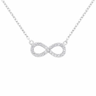 Sterling Silver Women's Infinity Necklace (17-inch)