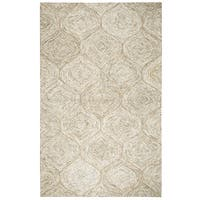 Rizzy Home Brindleton Brown Wool Hand-tufted Trellis Rug (3' x 5')