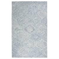 Rizzy Home Brindleton Blue Wool Hand-tufted Trellis Area Rug (3' x 5')