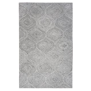Hand-Tufted Brindleton Gray Trellis 100 WOOL Rug (3' x 5')