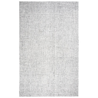 Rizzy Home Brindleton Solid Grey Hand-tufted 100% Wool Rug (3' x 5') - 3' x 5'