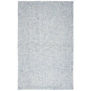Rizzy Home Brindleton Solid Blue Hand-tufted Wool Rug (3' x 5')