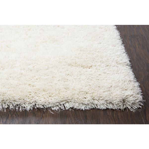 Shop York Ivory Solid Shag Polyester Hand Tufted Rug 3 6