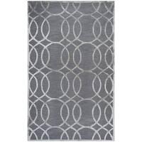 Rizzy Home Monroe Grey Wool Geometric Area Rug - 3' x 5'