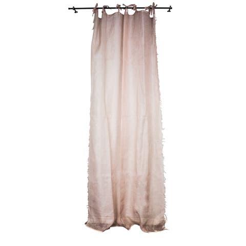 Sagebrook Home Linen Fry Edge Pink Window Curtain Panel