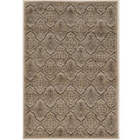 Power Loomed Jewel Collection Vintage Trellis Beige Polypropylene Rug