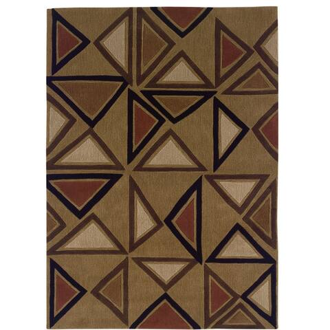 Hand Tufted Trio Collection Aztec Polyester Rug