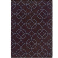 Hand Tufted Trio Collection Simon Chocolate & Blue Polyester Rug (1.10 x 2.10)