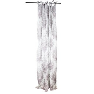 Sagebrook Home Printed White/Lavender Linen Window Curtain Panel