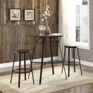Acme Furniture Dora Weathered Dark Oak/Black 3-piece Bar Set