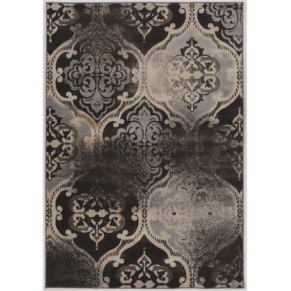 Power Loomed Jewel Collection Vintage K Arthur Rust Polypropylene Rug