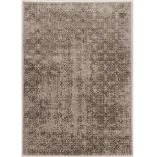 "Power Loomed Jewel Collection Vintage Illusion Biege Polypropylene Rug (8' X 10'4"")"