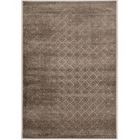 Power Loomed Jewel Collection Vintage G Diamonds Polypropylene Rug