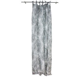 Sagebrook Home Paisley White/Grey Linen Window Curtain Panel