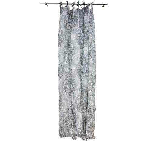 Sagebrook Home Paisley White/Grey Linen Window Curtain Panel
