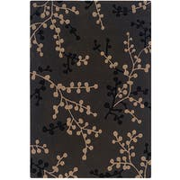 Hand Tufted Trio Collection Branches Grey & Beige Polyester Rug (8 x 10) - 8' X 10'