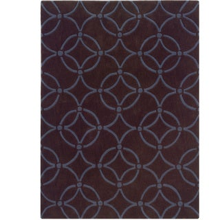 Hand Tufted Trio Collection Simon Brown & Blue Polyester Rug (8 x 10)
