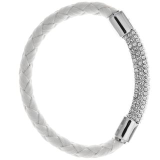 Matashi MTJB533B 18K White Gold Plated Bracelet with Glittering Crystals Designed Segment (options available)