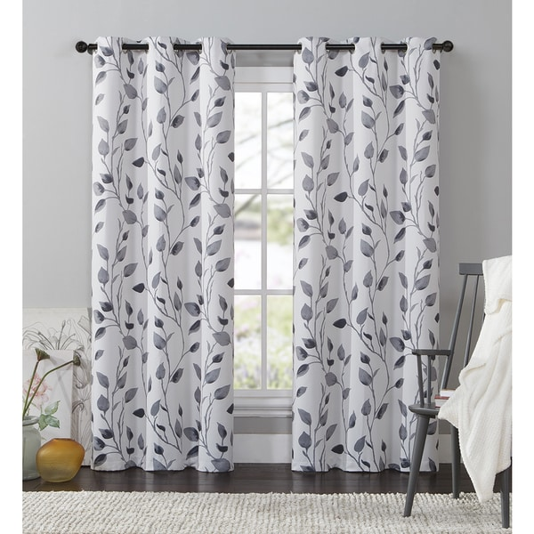 VCNY Home Leaf Window Curtain 84 95 Or 108 Inch Panel