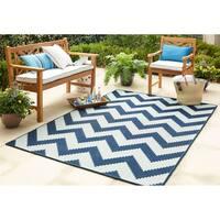Mohawk Home Oasis Tofino Chevron Indoor/Outdoor Area Rug (9' x 12') - 9' x 12'
