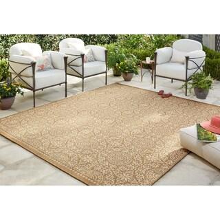"Mohawk Home Oasis Bundoran Indoor/Outdoor Area Rug (10'6 x 14') - 10' 6""x14' (Option: Natural)"