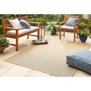 "Mohawk Home Oasis Montauk Indoor/Outdoor Area Rug (10'6 x 14') - 10' 6""x14' (Option: Natural)"