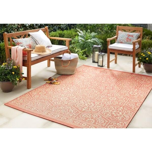 Shop Mohawk Oasis Nauset Indoor Outdoor Area Rug 10 6 X 14 On