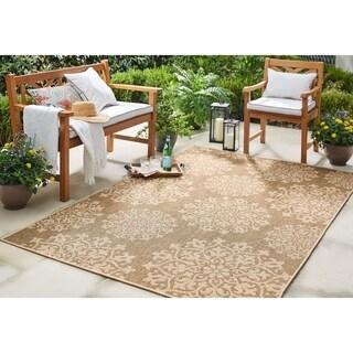 """Mohawk Home Oasis Sanibel Indoor/Outdoor Area Rug (10'6 x 14') - 10' 6""""x14'"""