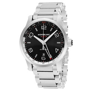 Mont Blanc Men's 109135 'Timewalker' Black Dial Stainless Steel Bracelet Voyager UTC Swiss Automatic Watch