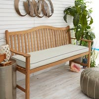 Sunbrella Ivory with Charcoal Grey Indoor/ Outdoor Bench Cushion