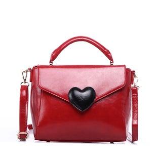 Pink Haley Rebecca Heart Satchel Handbag