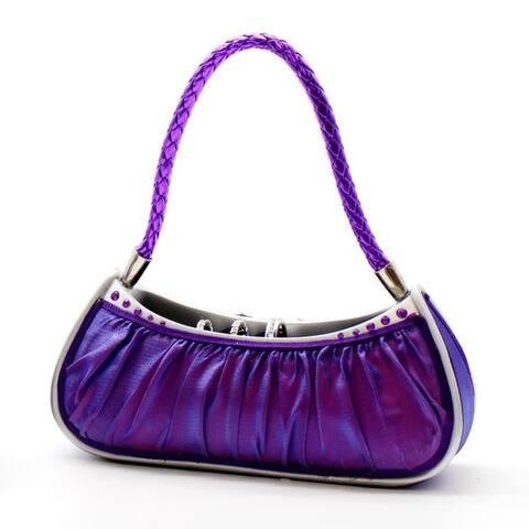 Dazzling Gems Gold Fabric Handbag Ring Holder