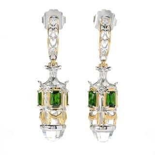 Michael Valitutti Palladium Silver White Topaz & Chrome Diopside Dangle Earrings https://ak1.ostkcdn.com/images/products/13957775/P20586852.jpg?impolicy=medium