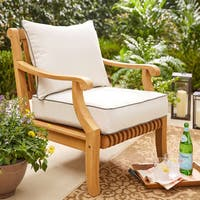 Sunbrella Canvas and Charcoal 2-piece Cushion and Pillow Indoor/Outdoor Set