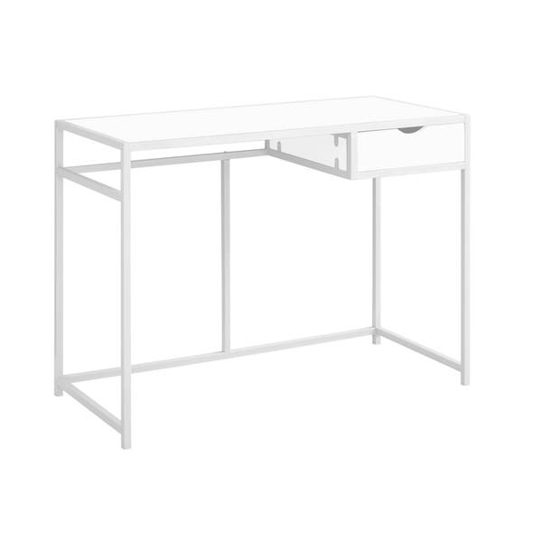 42 Inch Computer Desk With Silver Metal