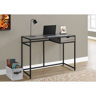 Dark Taupe and Black Metal 42-inch Computer Desk