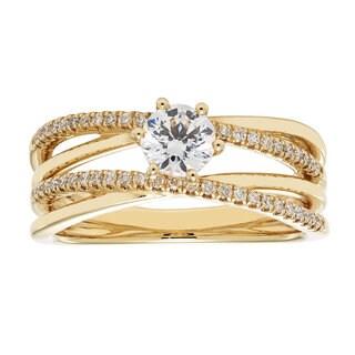 14k Yellow Gold IGI-certified 3/4ct TDW Round Diamond Bridal Ring Set (H-I, I1-I2)